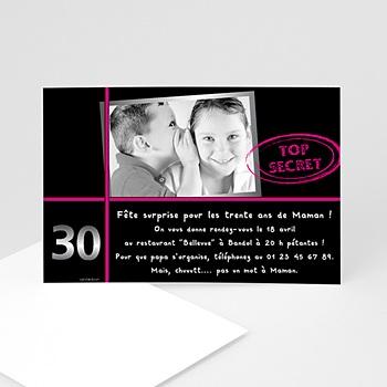 Créer soi même carte invitation anniversaire adulte anniversaire top secret