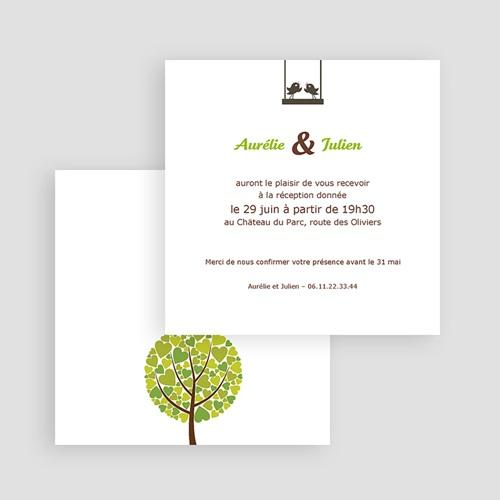 Carton Invitation Personnalisé Chant d'Amour gratuit