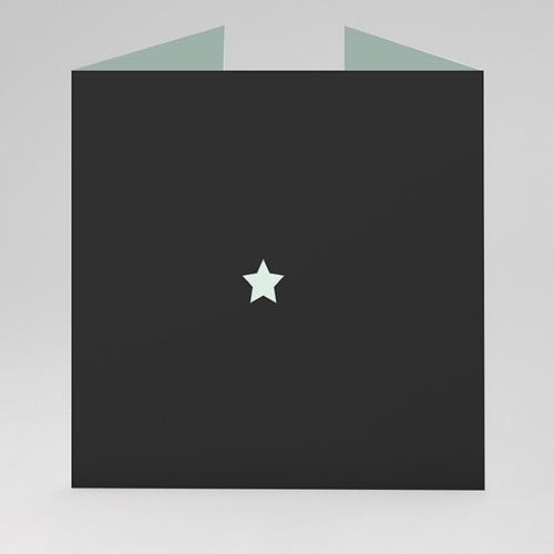 Carte de voeux entreprise Noir & Menthe gratuit
