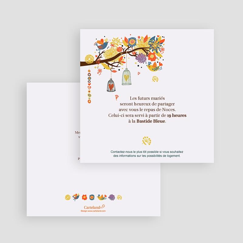 Carton Invitation Personnalisé L'arbre enchanté gratuit