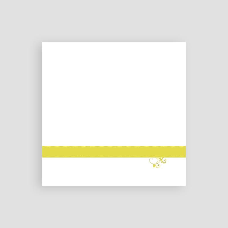 Carton Invitation Personnalisé Blanc et Anisé pas cher
