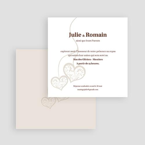 Carton Invitation Personnalisé Nous deux - invitation  gratuit