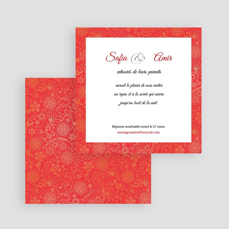 Carton Invitation Personnalisé Moyen-oriental Rouge gratuit
