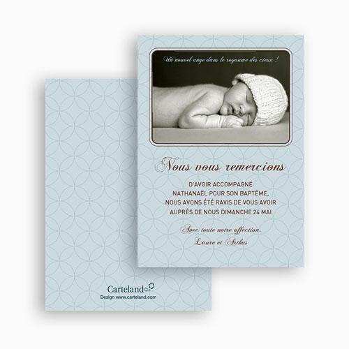 Carte remerciement baptême garçon Guillaume gratuit
