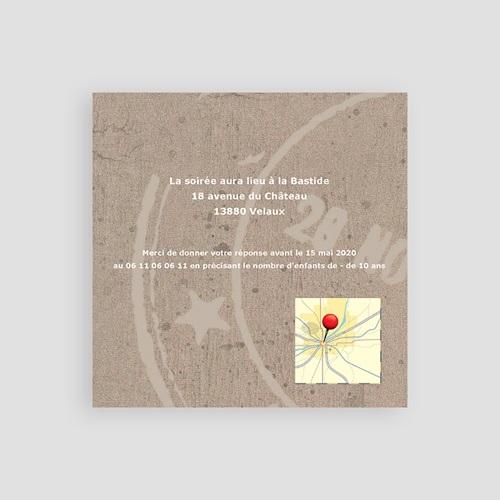 Carton Invitation Personnalisé Passeport pour le Bonheur pas cher