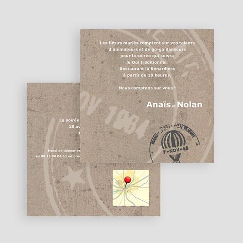 Carton Invitation Personnalisé Passeport pour le Bonheur gratuit