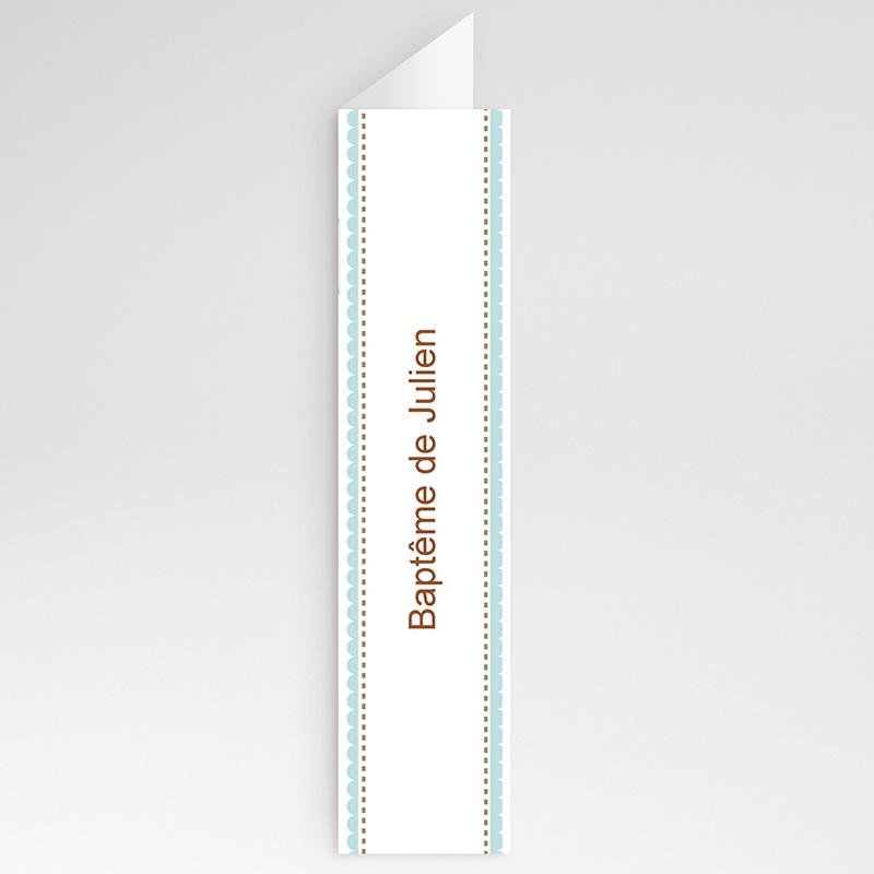 Menu de Baptême - Médaillon Bleu - Garçon 20994 thumb