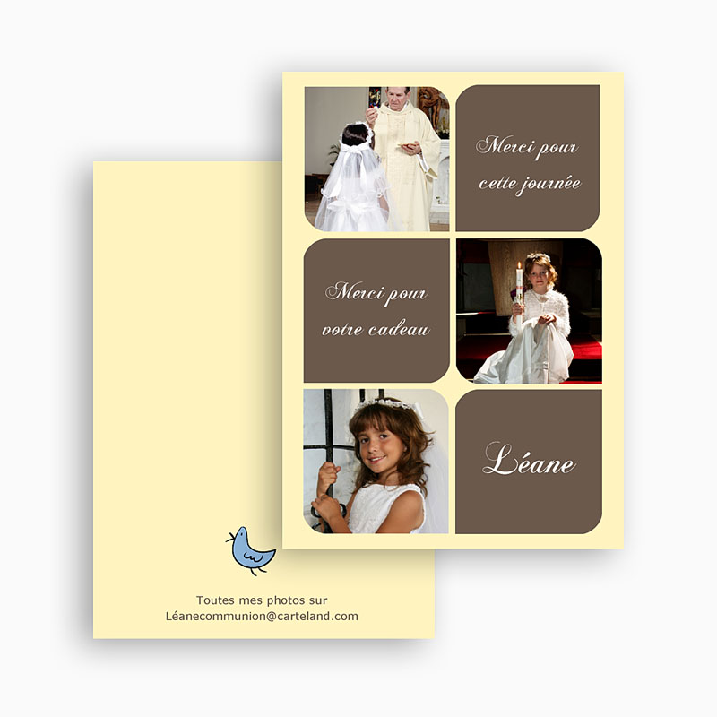 Remerciements Communion Fille - Léanne 21031 thumb
