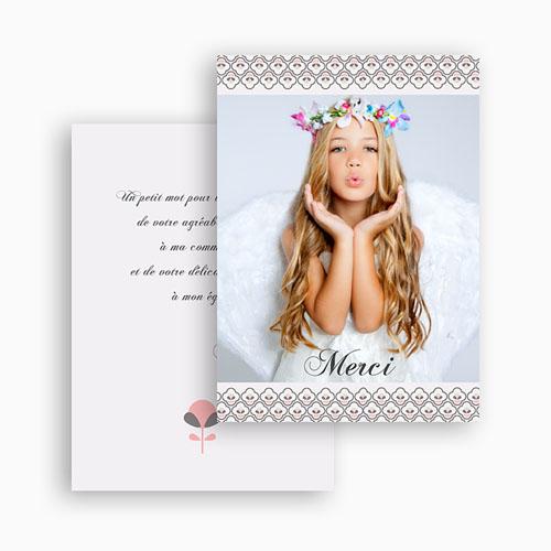 Carte Remerciement Communion Fille Fleur de Vie - Solennelle gratuit