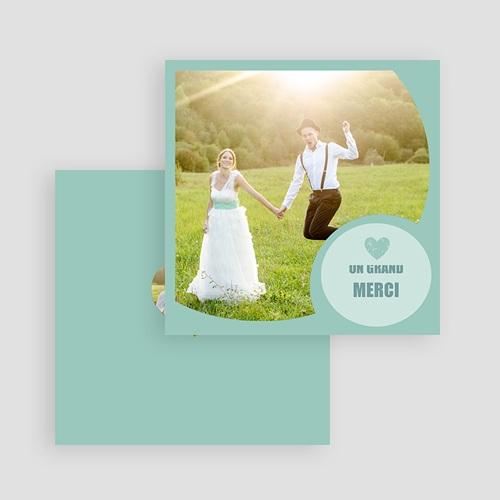 Carte personnalisée 2 photos Photo - Bordure Bleue gratuit