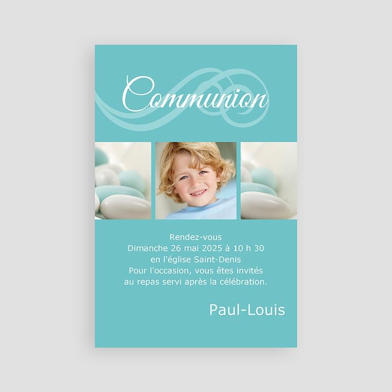 Faire-part Communion Garçon - Communion calligraphiée 2116 thumb