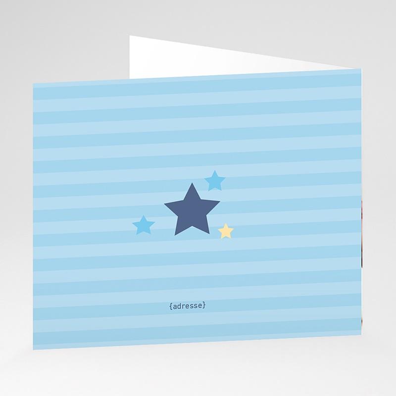 Faire-part naissance garçon Petite étoile bleue gratuit
