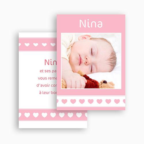 Remerciements Naissance Fille - Nina 21336 thumb