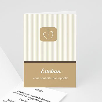 Menu de Communion - Communion, Profession de foi - beige - 3