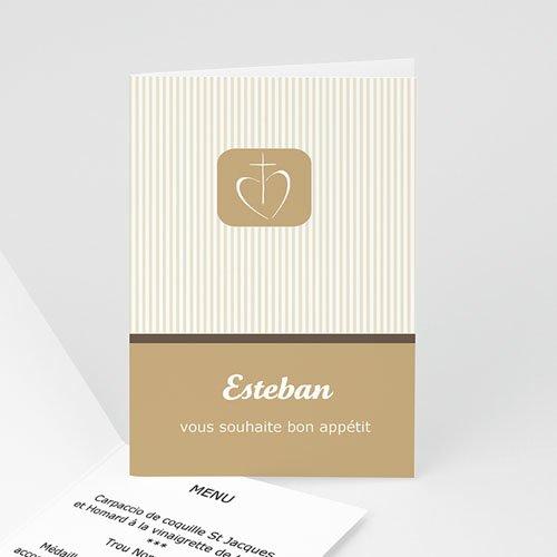 Menu de Communion - Bon appétit - beige 2136 thumb