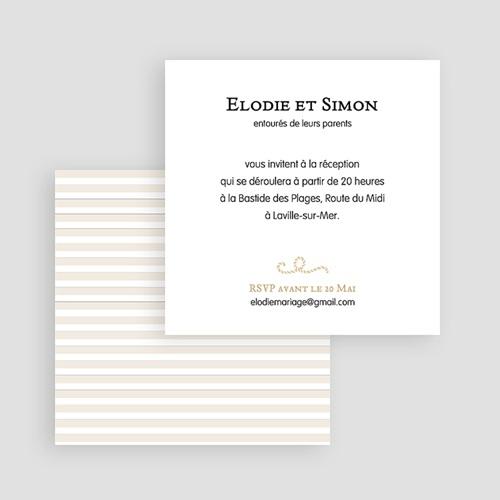 Carton Invitation Personnalisé Mer de sable gratuit