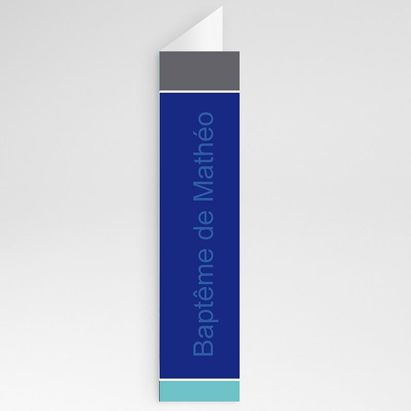 Menu de Baptême - Croix de Baptême - Bleu 21363 thumb