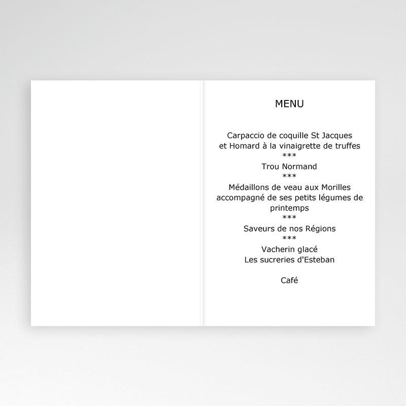Menu Communion Bon appétit - beige pas cher