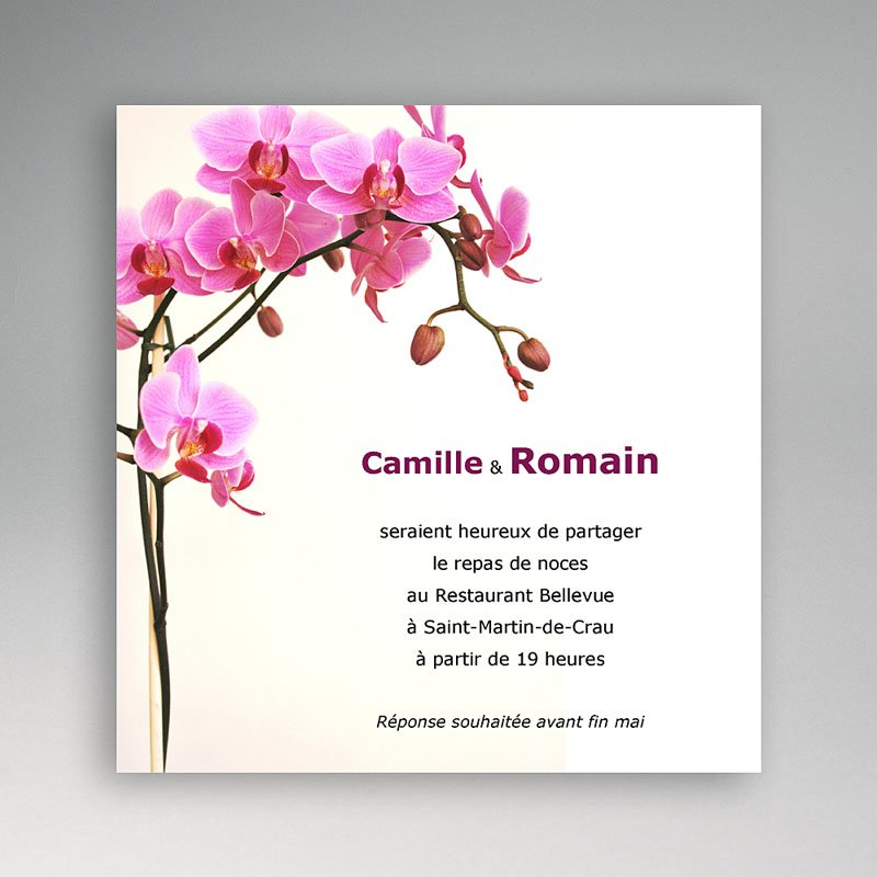 Carton Invitation Personnalise Invitation Mariage L Orchidee