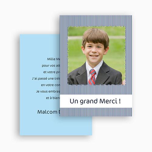Remerciements Communion Garçon - Rayé de bleu 21427 thumb