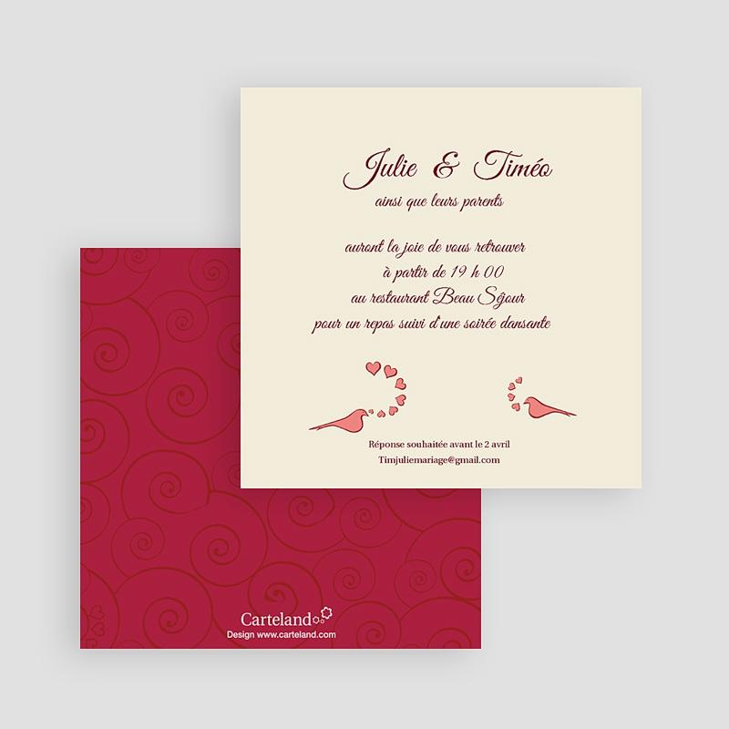 Carton Invitation Personnalisé Oui romantique gratuit