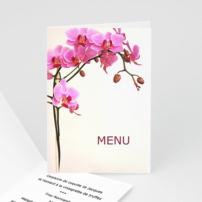Menu Mariage Personnalisé Saveurs de L'orchidée
