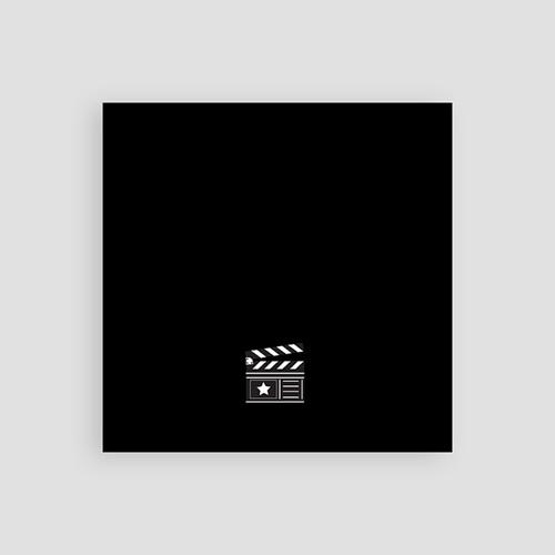 Carton Invitation Personnalisé  Invitation au Cinéma, 10 cm x 10 cm pas cher