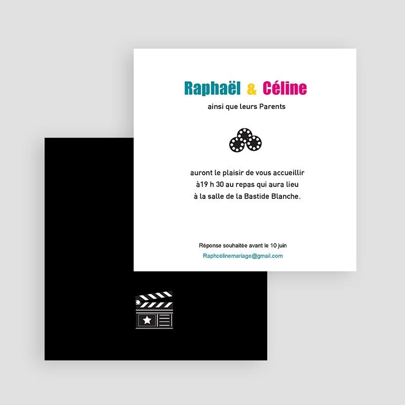 Carton Invitation Personnalisé  Invitation au Cinéma, 10 cm x 10 cm gratuit