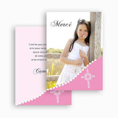 Remerciements Communion Fille - Communion  sacrée - rose pâle 21454 preview