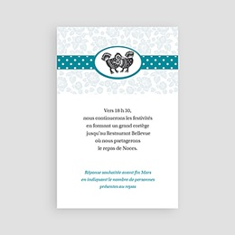 Carton Invitation Personnalisé Picota