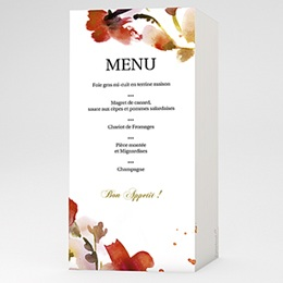 Menu Aquarelle
