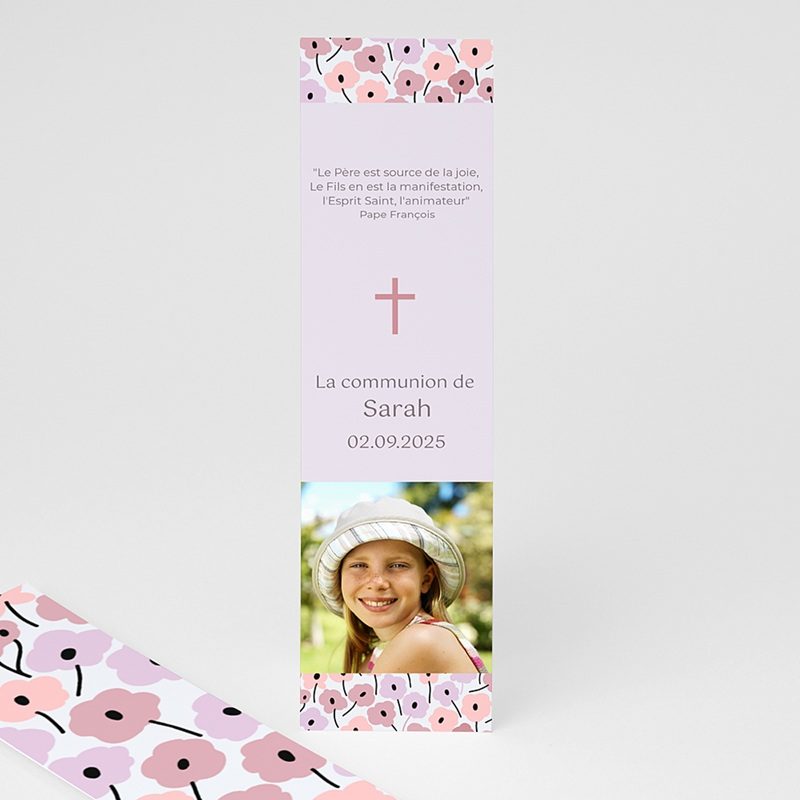 Marque-Page - Fleurs roses 21572 thumb