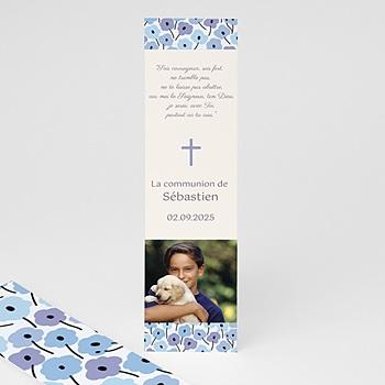 Marque-Page - Fleurs bleues