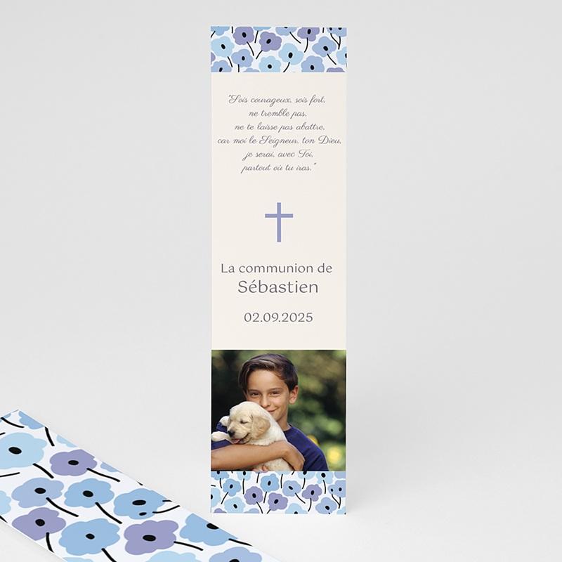 Marque-Page Fleurs bleues