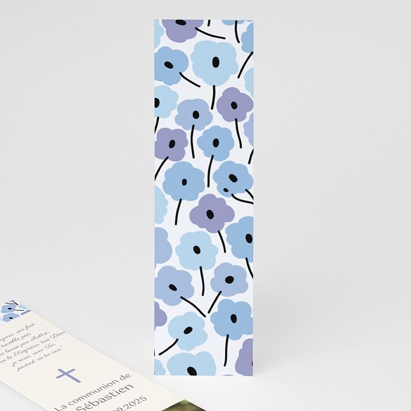 Marque-Page Fleurs bleues pas cher