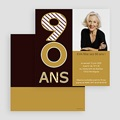 Invitation Anniversaire Adulte - 90 ans en Or 21721 thumb