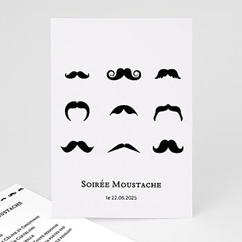 Invitation Anniversaire Adulte - Soirée moustache - 4