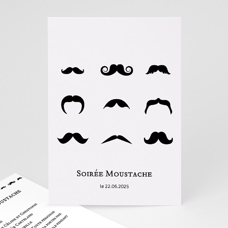 Carte Invitation Anniversaire Adulte Soirée moustache