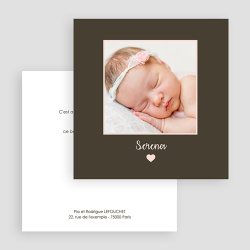 Faire-Part Naissance Fille - Photo coup de coeur 21766 preview