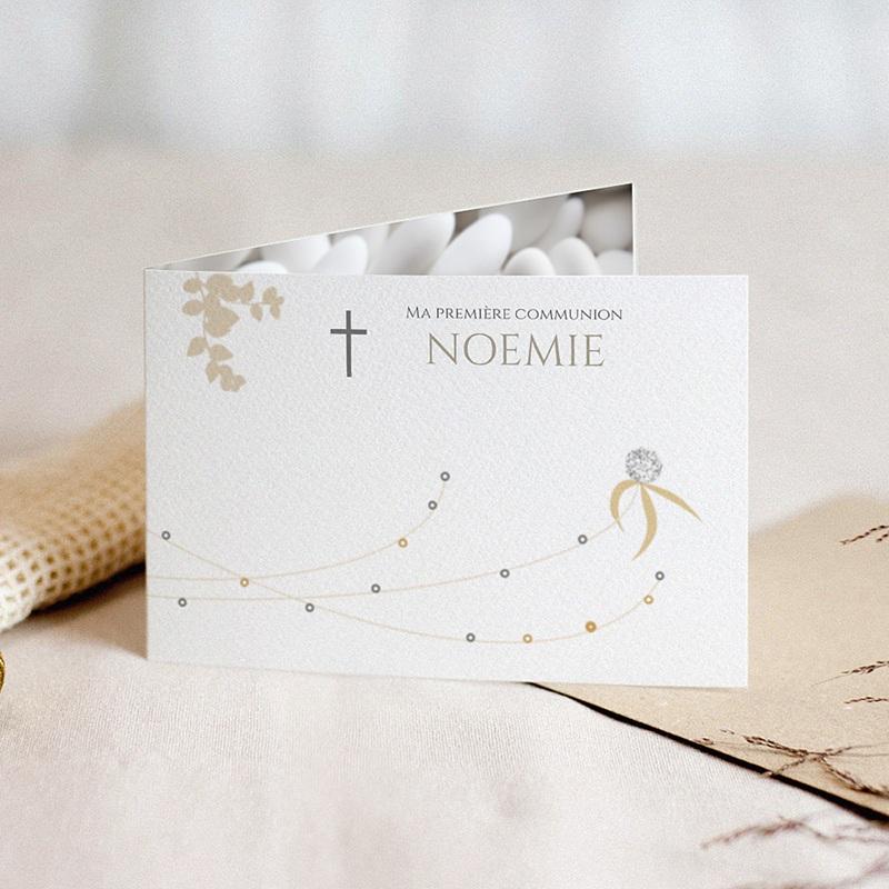 Fabulous Invitation Faire-Part Communion Personnalisée | Carteland.com BN13