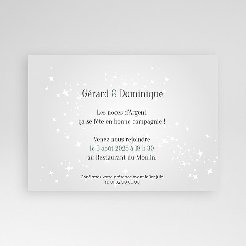 Carte invitation anniversaire mariage pêle-mêle retrospectif pas cher