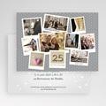 Carte invitation anniversaire mariage pêle-mêle retrospectif gratuit