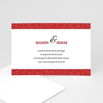 Carton Invitation Personnalisé Manon et Jonas
