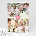 Carte remerciement mariage - 4 photos & 1 coeur - 2691