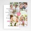 Remerciements Mariage Personnalisés 4 photos & 1 coeur gratuit