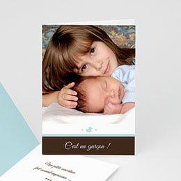 Faire-Part Naissance Garçon - Naissance Garçon - bleu 21851