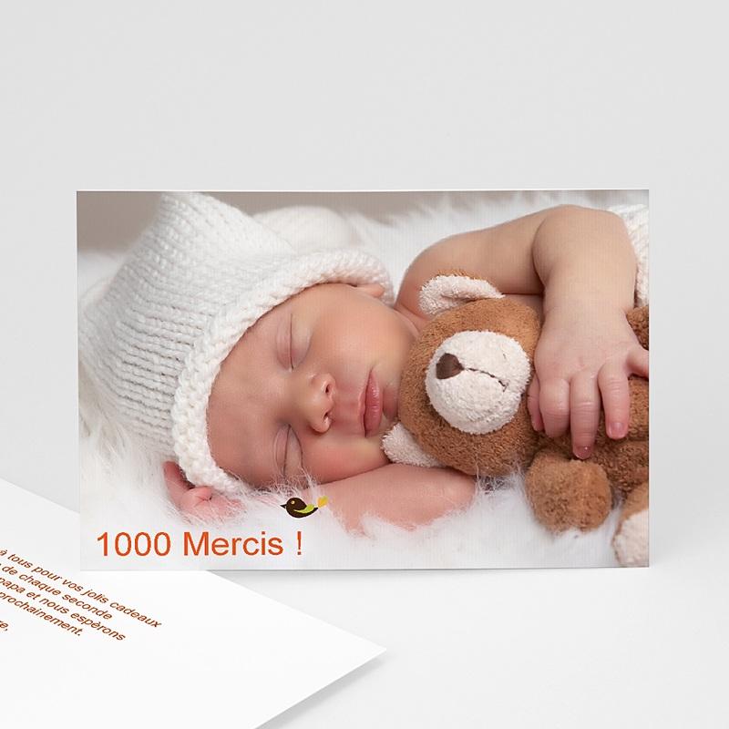 Carte remerciement naissance fille Esprit Bohème