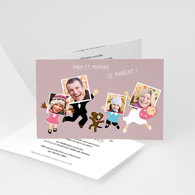 Faire-Part Mariage Original Famille heureuse