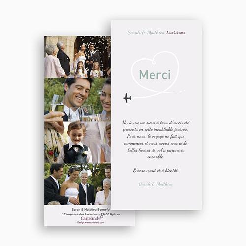 Remerciements Mariage Personnalisés Destination Bonheur gratuit