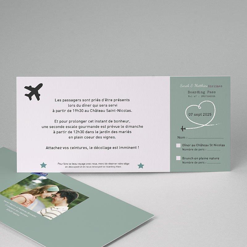 Carton Invitation Personnalisé Destination Bonheur